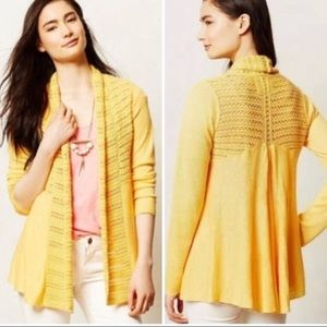 Yellow Angel of the North cardigan (Anthropologie)